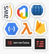 Serverless Architecture Combo Pack (med+) Sticker