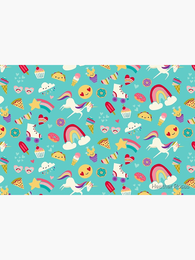 Tween Girl Icons Rainbows Emojis Unicorns Roller Skates by heatherrosas