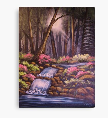 Waterfalls in the Forest Canvas Print