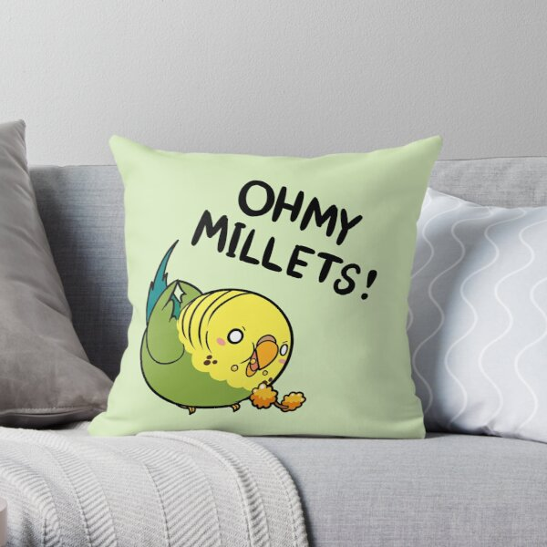 Oh My Millets Throw Pillow