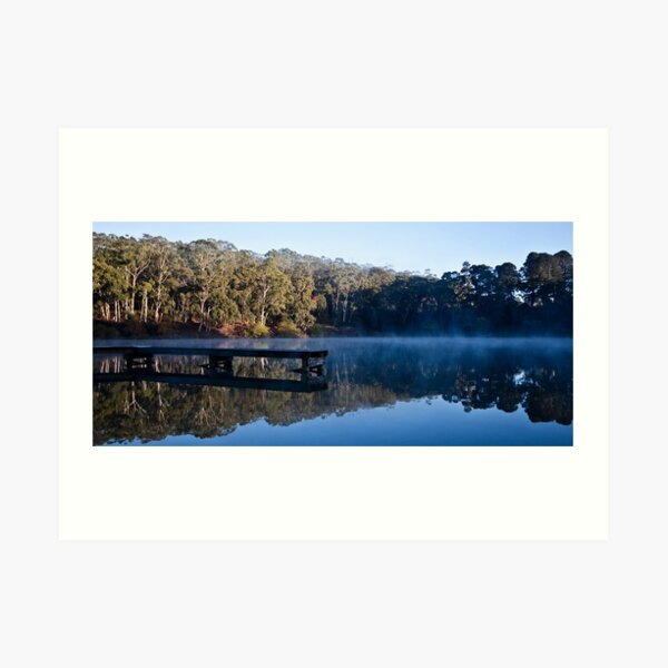 Mirrored Lake Daylesford Art Print