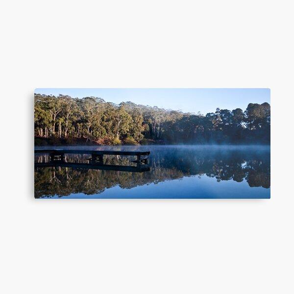 Mirrored Lake Daylesford Metal Print