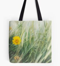 Yellow Flower in Field Tote Bag