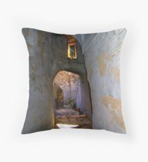 Tunnels of Arnados Throw Pillow