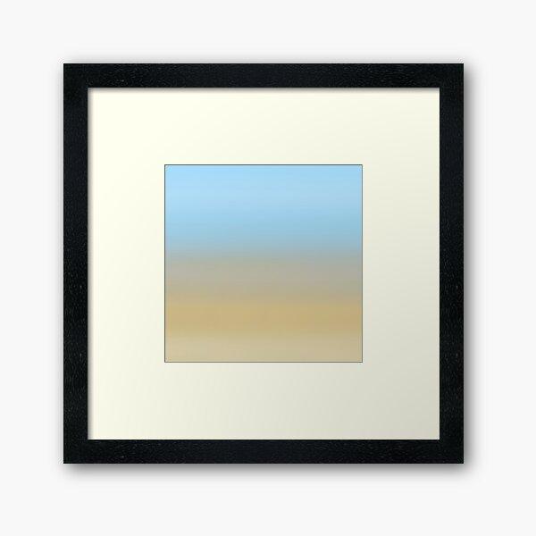 Beach fading Framed Art Print