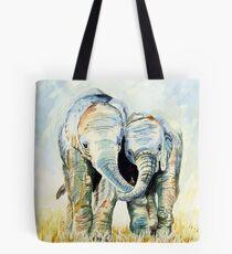 Calf Elephants Tote Bag