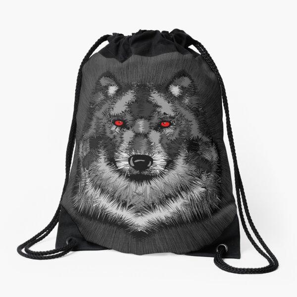 Wolf Drawstring Bag