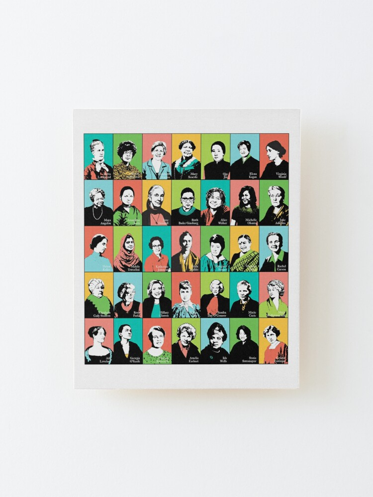 Alternate view of Feminist Icons Mounted Print