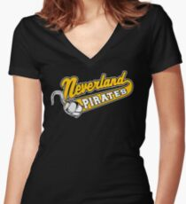 Neverland Pirates Women's Fitted V-Neck T-Shirt