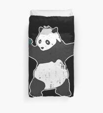 Banksy Panda With Guns Duvet Cover