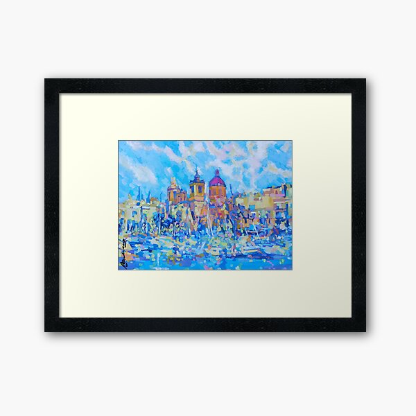 Malta Harbour Framed Art Print