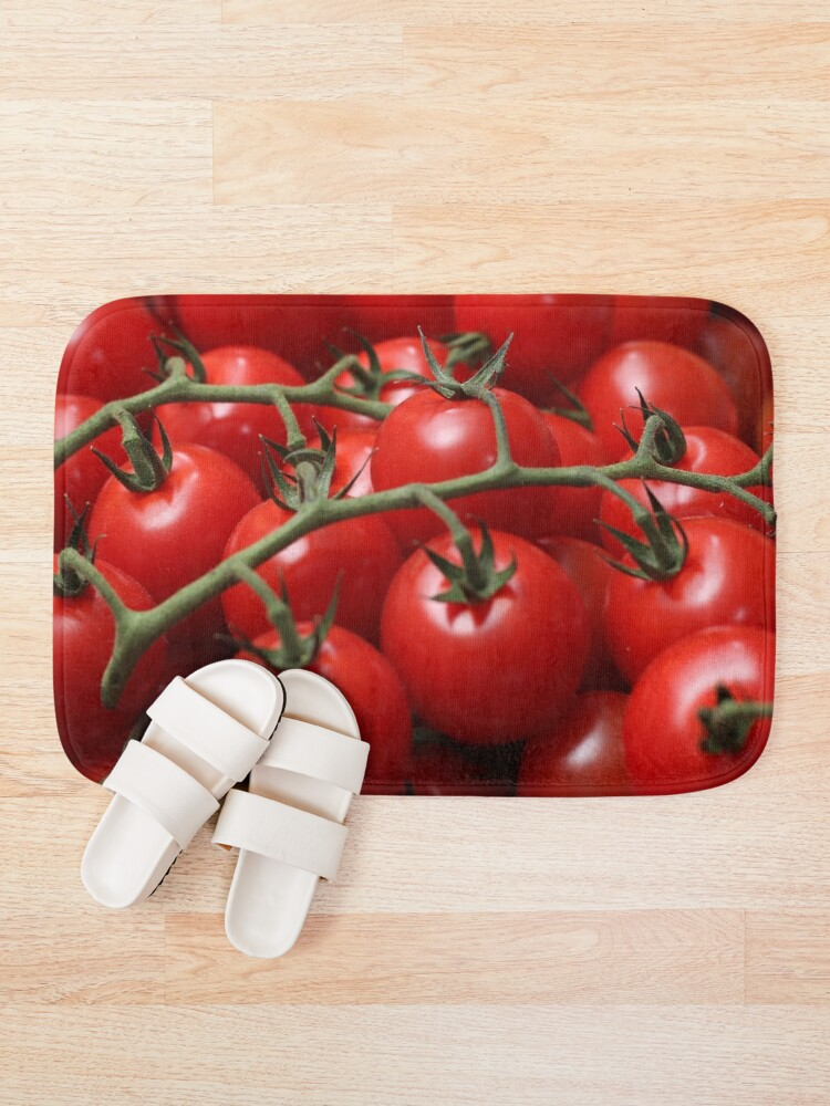 Alternate view of tomatoes Bath Mat