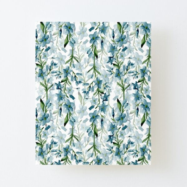 Blue branches Canvas Mounted Print