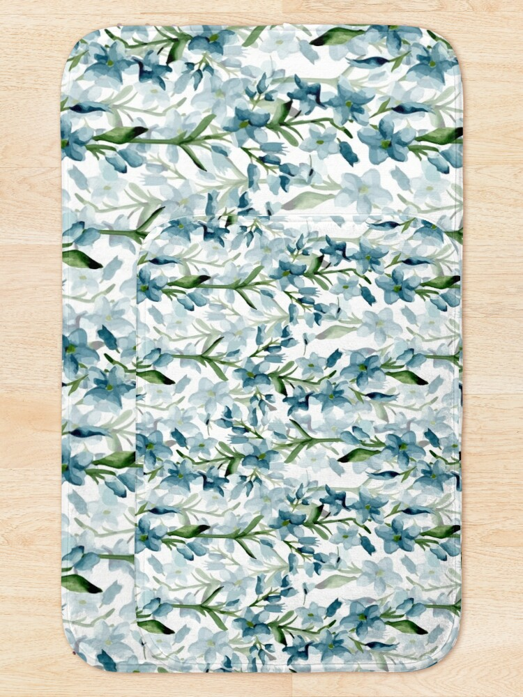 Alternate view of Blue branches Bath Mat