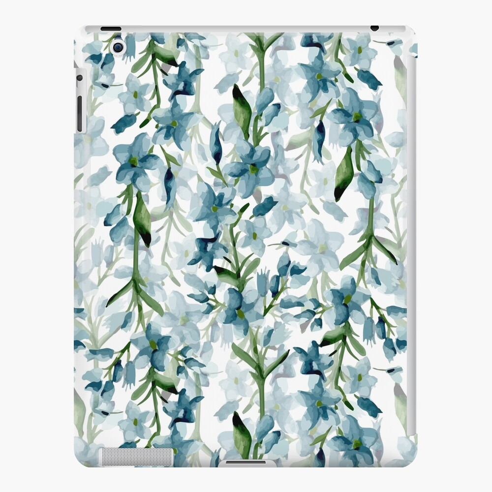 Blue branches iPad Case & Skin