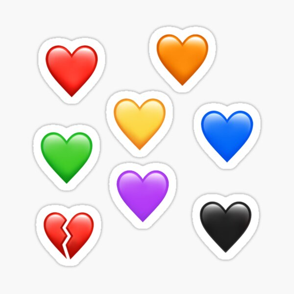 Paquete de pegatinas de Emoji de corazón 1 Pegatina
