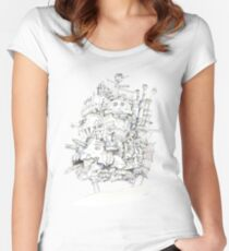 Howl's Moving Castle Women's Fitted Scoop T-Shirt
