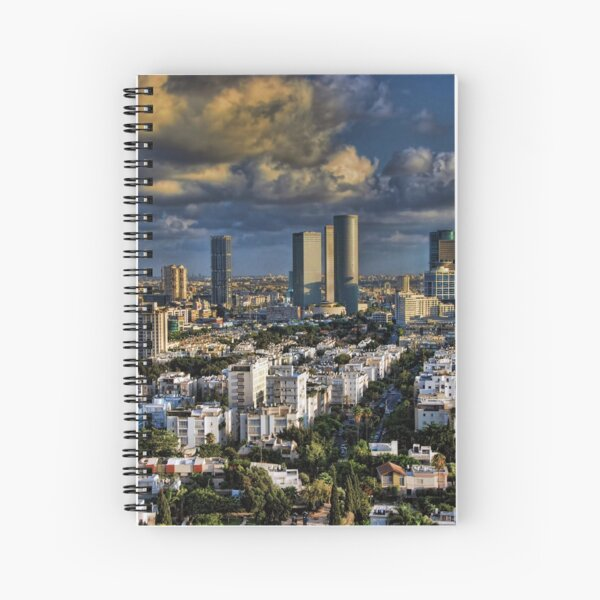 Tel Aviv Heliport shadowing Spiral Notebook