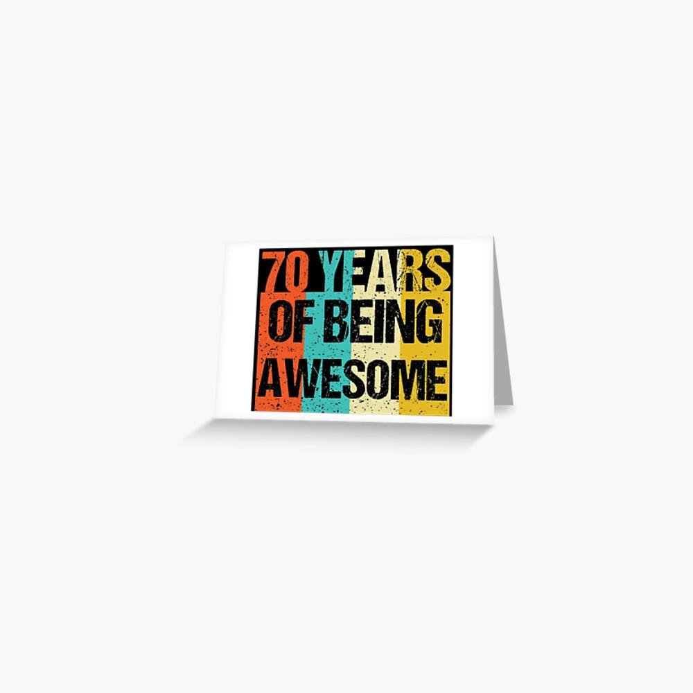70. Geburtstag Geschenk - 70 Jahre alt - 70ster - Vintage Grußkarte