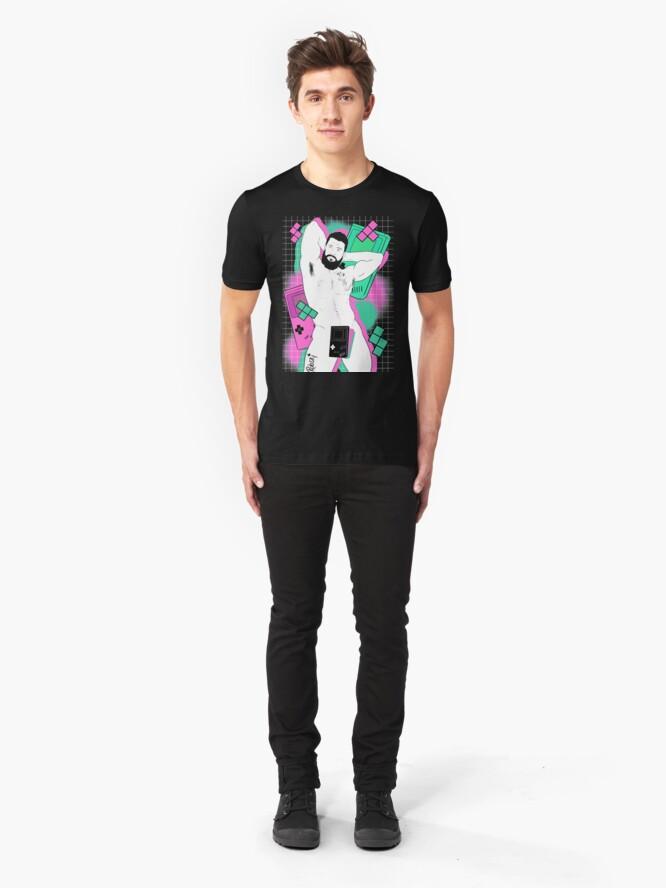 Alternate view of GameBoy Black Slim Fit T-Shirt