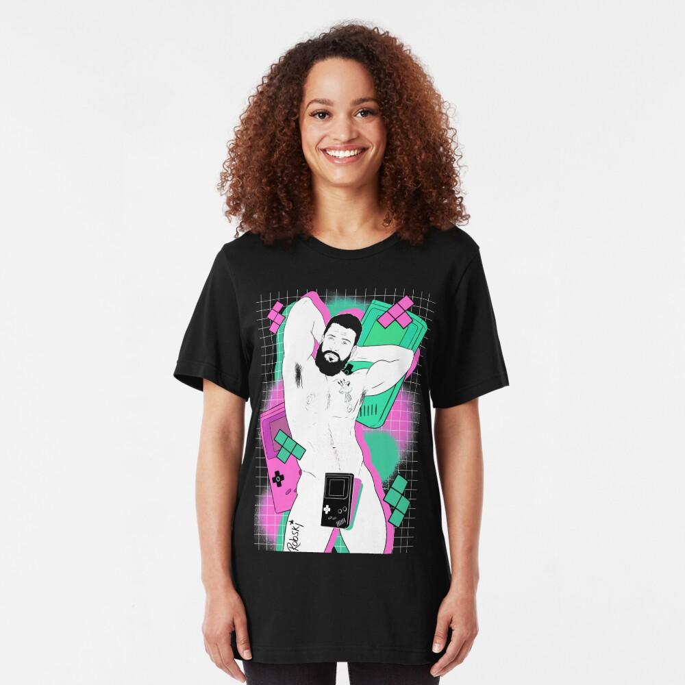 GameBoy Black Slim Fit T-Shirt