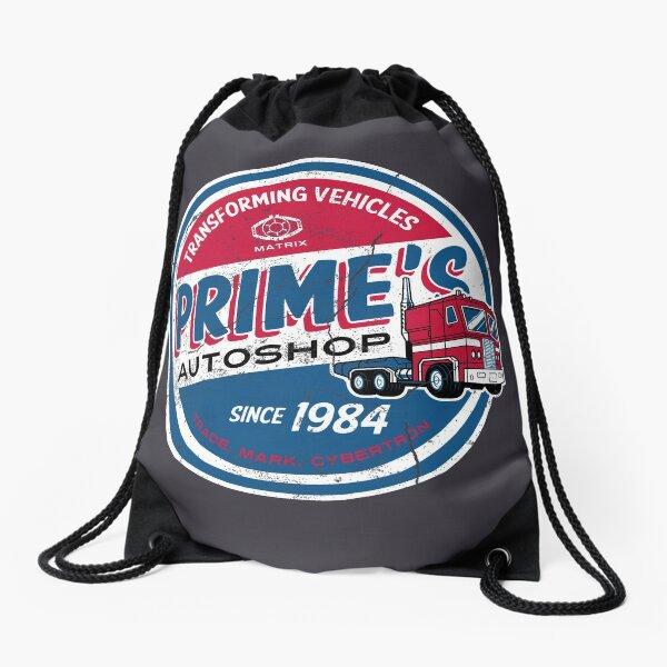 Prime's Autoshop - Vintage Distressed Style - Garage  Drawstring Bag