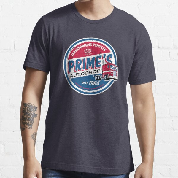 Prime's Autoshop - Vintage Distressed Style - Garage  Essential T-Shirt