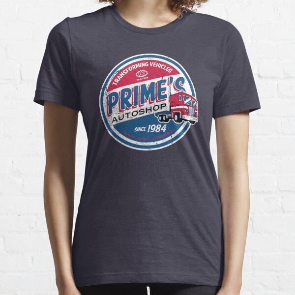 Prime's Autoshop - Vintage Distressed Style - Garage  Essential T-Shirt
