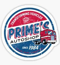 Prime's Autoshop - Vintage Distressed Style - Garage  Sticker