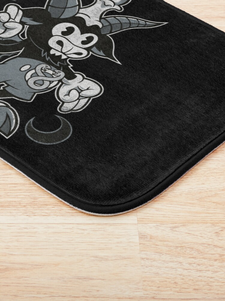 Alternate view of Do Walt Thou Wilt - Baphomet - Creepy Cute Occult Bath Mat