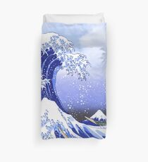Surf's Up! Great Wave, Hokusai Duvet Cover