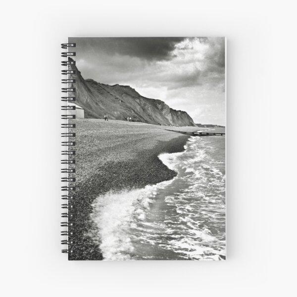 The pebble beach at Sheringham, Norfolk, UK Spiral Notebook