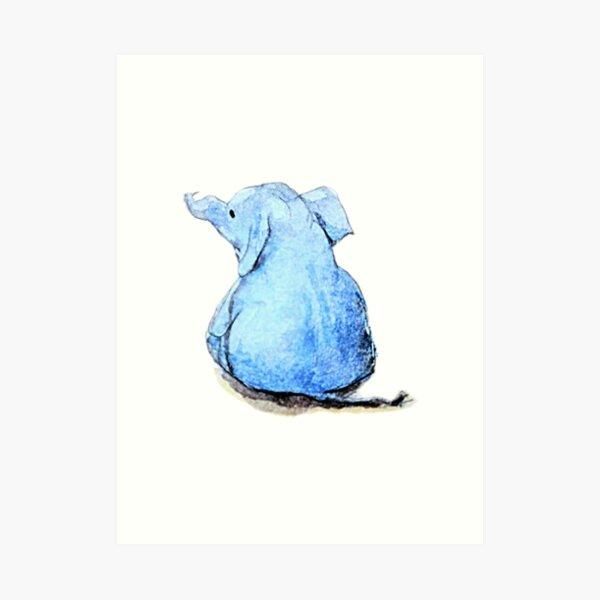 Wittle Blue Ephalump Art Print