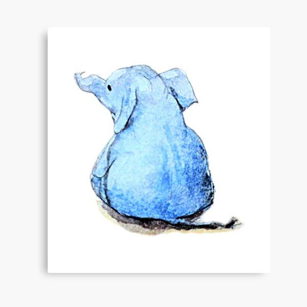 Wittle Blue Ephalump Canvas Print