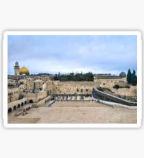 Jerusalem and the western wall Sticker