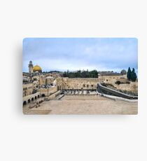 Jerusalem and the western wall Canvas Print
