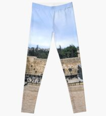 Jerusalem and the western wall Leggings