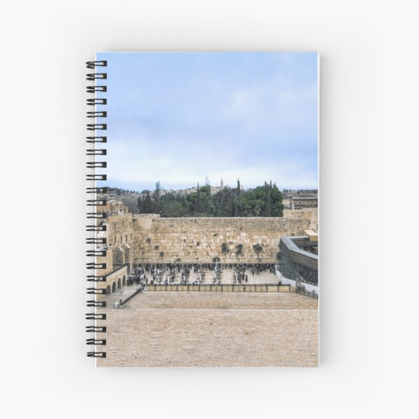 Jerusalem and the western wall Spiral Notebook