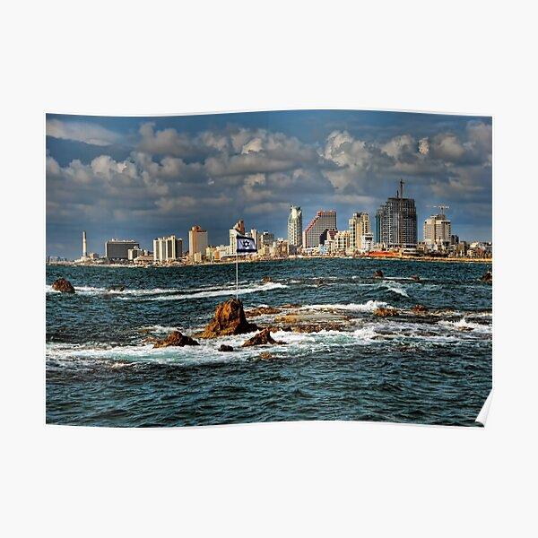 Tel Aviv shoreline Poster