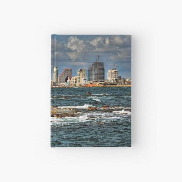 Tel Aviv shoreline Hardcover Journal