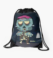Frank the Zombie Drawstring Bag