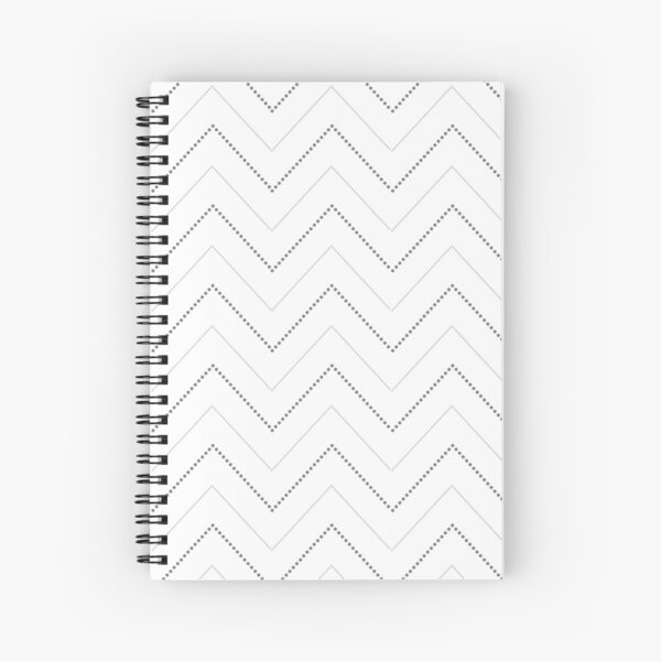 Dotted Chevrons Spiral Notebook