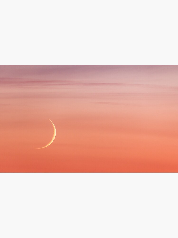 Moon crescent and sunset sky by Juhku