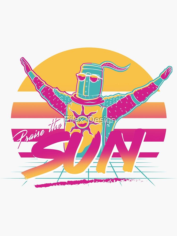 "White5/"" tall Praise the Sun Vinyl DecalColor"