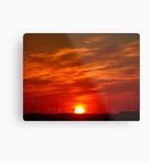 Crimson Sunset on the Horizon... Metal Print