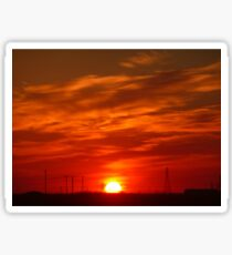 Crimson Sunset on the Horizon... Sticker