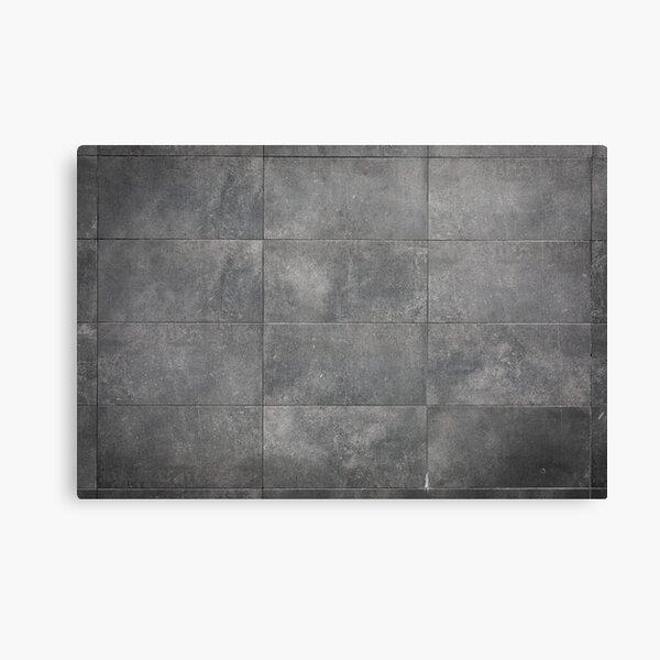 Modern grey stone wall Canvas Print