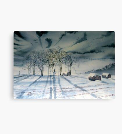 Tumulus by Moonlight - Garrowby Hill Canvas Print