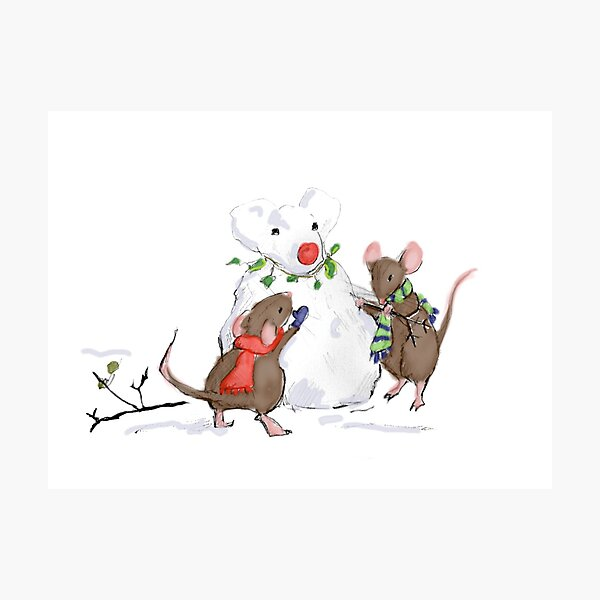Snowmouse Photographic Print