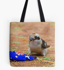 Laughing Kookaburra with the Australia Flag Tote Bag